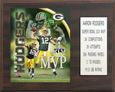 "NFL 12""x15"" Aaron Rodgers Green Bay Packers Super Bowl MVP Plaque"