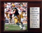 """NFL 12""""x15"""" Brett Favre Green Bay Packers Career Stat Plaque"""