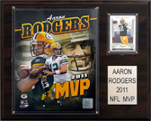 "NFL 12""x15"" Aaron Rodgers 2011 NFL MVP Green Bay Packers Player Plaque"