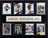 """NFL 12""""x15"""" Aaron Rodgers Green Bay Packers 8 Card Plaque"""