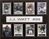 """NFL 12""""x15"""" J.J. Watt Houston Texans 8-Card Plaque"""