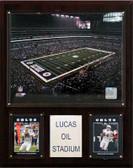 """NFL 12""""x15"""" Lucas Oil Stadium Plaque"""
