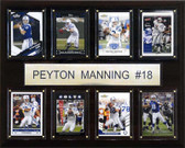 """NFL 12""""x15"""" Peyton Manning Indianapolis Colts 8 Card Plaque"""