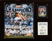 """NFL 12""""x15"""" Indianapolis Colts Super Bowl XLI Champions Plaque"""