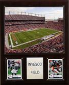 """NFL 12""""x15"""" Invesco Field Stadium Plaque"""