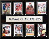 "NFL 12""x15"" Jamaal Charles Kansas City Chiefs 8-Card Plaque"