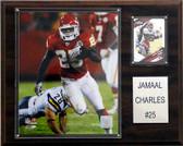 "NFL 12""x15"" Jamaal Charles Kansas City Chiefs Player Plaque"