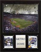 """NFL 12""""x15"""" Metrodome Stadium Plaque"""