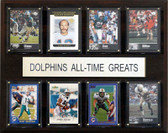 """NFL 12""""x15"""" Miami Dolphins All-Time Greats Plaque"""