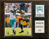 "NFL 12""x15"" Brandon Marshall Miami Dolphins Player Plaque"