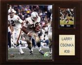 """NFL 12""""x15"""" Larry Csonka Miami Dolphins Player Plaque"""