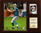 """NFL 12""""x15"""" Chad Henne Miami Dolphins Player Plaque"""