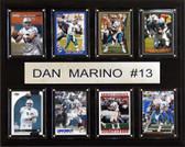 "NFL 12""x15"" Dan Marino Miami Dolphins 8 Card Plaque"