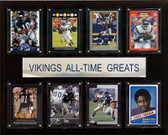 "NFL 12""x15"" Minnesota Vikings All-Time Greats Plaque"