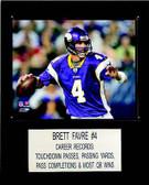 "NFL 12""x15"" Brett Favre Minnesota Vikings Player Plaque"
