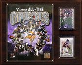 """NFL 12""""x15"""" Minnesota Vikings All -Time Great Photo Plaque"""