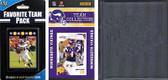 NFL Minnesota Vikings Licensed 2010 Score Team Set and Favorite Player Trading Card Pack Plus Storage Album