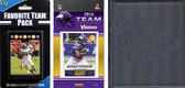 NFL Minnesota Vikings Licensed 2014 Score Team Set and Favorite Player Trading Card Pack Plus Storage Album