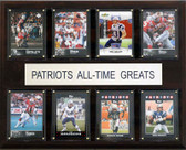 """NFL 12""""x15"""" New England Patriots All-Time Greats Plaque"""