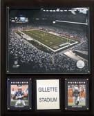 """NFL 12""""x15"""" Gillette Stadium Stadium Plaque"""
