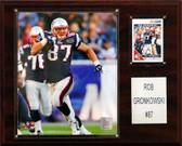 "NFL 12""x15"" Rob Gronkowski New England Patriots Player Plaque"