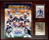 """NFL 12""""x15"""" New England Patriots Super Bowl XXXIX Champions Plaque"""