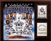 """NFL 12""""x15"""" New England Patriots Super Bowl XLIXI Champions Plaque"""