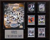 "NFL 16""x20"" New England Patriots 3-Time Super Bowl Champions Plaque"