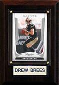 """NFL 4""""x6"""" Drew Brees New Orleans Saints Player Plaque"""