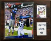 "NFL 12""x15"" Hakeem Nicks New York Giants Player Plaque"