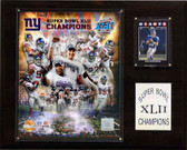 "NFL 12""x15"" New York Giants Super Bowl XLII Champions Plaque, Gold Edition"