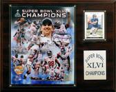 "NFL 12""x15"" New York Giants Super Bowl XLVI Champions Plaque, Gold Edition"