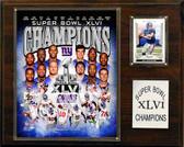 "NFL 12""x15"" New York Giants Super Bowl XLVI Champions Plaque"
