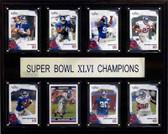 "NFL 12""x15"" New York Giants Super Bowl XLVI 8-Card Plaque"