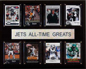 """NFL 12""""x15"""" New York Jets All-Time Greats Plaque"""