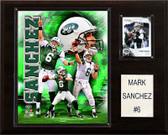 """NFL 12""""x15"""" Mark Sanchez New York Jets Player Plaque"""