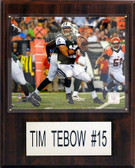 """NFL 12""""x15"""" Tim Tebow New York Jets Player Plaque"""