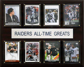 "NFL 12""x15"" Oakland Raiders All-Time Greats Plaque"
