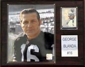 "NFL 12""x15"" George Blanda Oakland Raiders Player Plaque"