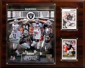 "NFL 12""x15"" Oakland Raiders 2012 Team Plaque"