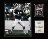"""NFL 12""""x15"""" Ken Stabler Oakland Raiders Player Plaque"""