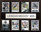 "NFL 12""x15"" LeSean McCoy Philadelphia Eagles 8-Card Plaque"