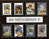 "NFL 12""x15"" Ben Roethlisberger Pittsburgh Steelers 8 Card Plaque"