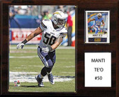 "NFL 12""x15"" Manti Te'o San Diego Chargers Player Plaque"