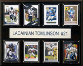 """NFL 12""""x15"""" LaDainian Tomlinson San Diego Chargers 8-Card Plaque"""
