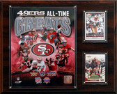 """NFL 12""""x15"""" San Francisco 49ers All -Time Great Photo Plaque"""