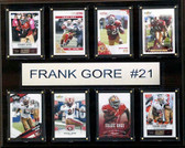 "NFL 12""x15"" Frank Gore San Francisco 49ers 8-Card Plaque"