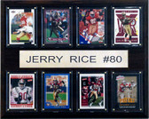 "NFL 12""x15"" Jerry Rice San Francisco 49ers 8 Card Plaque"