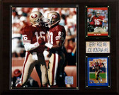 "NFL 12""x15"" Montana-Rice San Francisco 49ers Player Plaque"