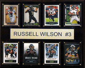 """NFL 12""""x15"""" Russell Wilson Seattle Seahawks 8-Card Plaque"""